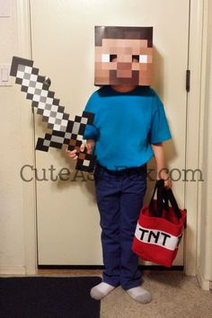Cute As a Fox: Butterfly and Minecraft Steve Costume