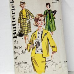 Vintage Butterick 2601 1960s Sewing Pattern by Old2NewMemories