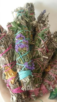 Smudge bundles intuitively blended with herbs, spice and zest.