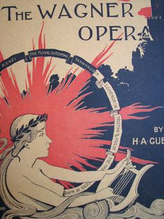 1890's Stories of the Wagner Opera Vintage Literary Poster ...