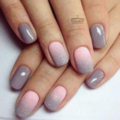 Gradient Nails Design for Winter Picture 2 #PopularNailShapes