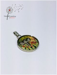 dragonfly, enamel, pendant