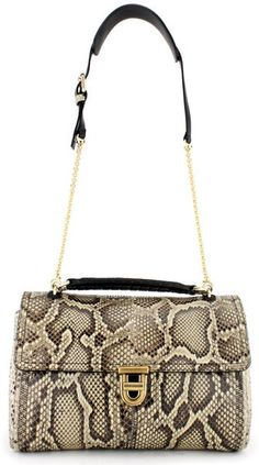 Nina Ricci Asap Python Bag in Gray (grey)