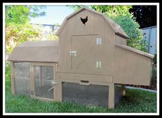Unpainted chicken coop kit is crafted from premium birch. Item in stock. Free shipping to continental US. Will ship within 1-3 days after your order and payment through Etsy. Perfectly suited for 2-3 chickens Measures: 56 long x 22 wide x 36 high  Features: Protected chicken run with access ramp Deep, easy to clean sliding bedding tray Secure latches Large doors to access eggs/cleaning Ships in one box for quick assembly with just a screwdriver Easy to move around the yard Divided nesting…