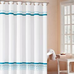 Klyne Shower Curtain in Turquoise   really, really like this