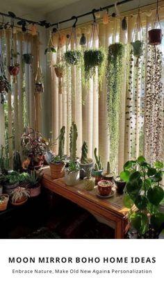 Room With Plants, House Plants Decor, Patio Plants, Potted Plants, Balcony Hanging Plants, Plants In Bedroom, Indoor Plant Decor, Plant Rooms, Best Indoor Hanging Plants