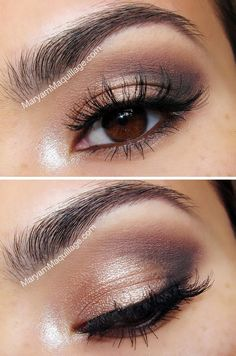 Daytime Smokey using Urban Decay Naked 2 Palette. Great lashes and brows!