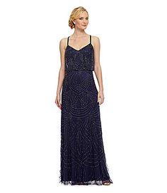 Adrianna Papell Beaded Blouson Gown #Dillards
