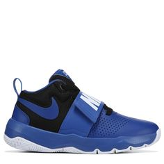 Nike Kids Team Hustle D8 Basketball Shoe Preschool Shoes Blue