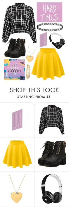 """""""Hard Times -Paramore"""" by twenty-one-kitchen-sinks ❤ liked on Polyvore featuring LE3NO, Tory Burch, Beats by Dr. Dre and David Yurman"""