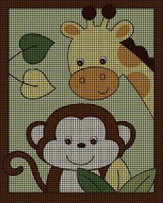 Baby Monkey & Giraffe Crochet Pattern