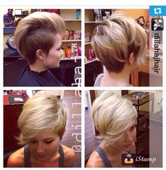 So tempted to cut my hair like this! It's a nice change from the worn out pixie. Love the shaved side!