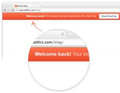 AddThis welcome bar