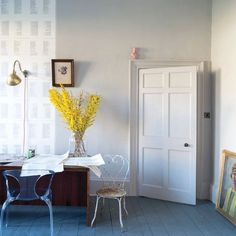 Purbeck Stone by Farrow & Ball Farrow And Ball Living Room, Farrow And Ball Paint, Living Room Paint, Farrow Ball, Living Room Grey, Living Rooms, New Paint Colors, Wall Colors, Ammonite Farrow And Ball