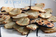 Salt and vinegar sliced potato chips