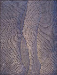 (technique mixte, feuilles d'aluminium, peinture minérale) 129x98 cm 2016 House, Ideas, Aluminium Foil, Leaves, Weaving, Paint, Home, Thoughts, Homes