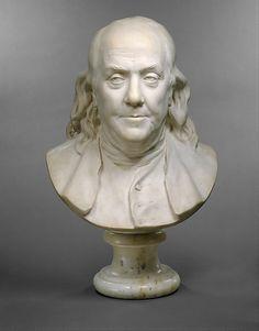 HOUDON Jean-Antoine - French (Versailles 1741 – 1828 Paris) ~ Benjamin FRANKLIN (1706–1790)     1778.