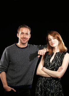 "ryangoslingsource: ""Ryan Gosling and Emma Stone photographed by Dan MacMedan for USA Today Life """