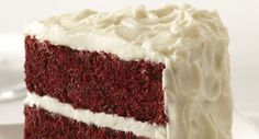 Easy Red Velvet Cake with Vanilla Cream Cheese Frosting...Very interesting recipe. Sounds great though.