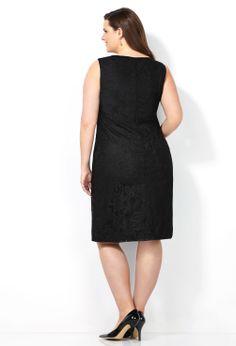 Paisley Crochet Sheath Dress-Plus Size Dress-Avenue
