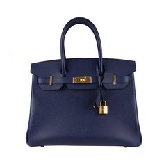 add211f113fd Hermes Handbag Birkin 30 Veau Epsom 73 Bleu Saphir Gold Hardware 2016