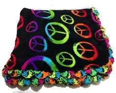 Blacklight Peace Sign Rainbow Ombre Fuzzy by AddSomeStitches, $35.00