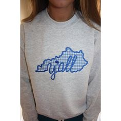 Kentucky Applique Sweatshirt. Show your state pride with this sweet southern shirt :)