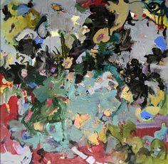 "We Need Bees. 36"" x 36"". Acrylics on canvas"