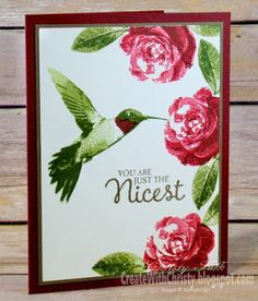 "You are Just the Nicest card using Stampin' Up! ""Picture Perfect"" stamp set"
