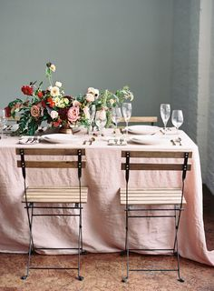 organic floral design, mood reds and berry tone pinks, garden inspired table arrangement and reception setting