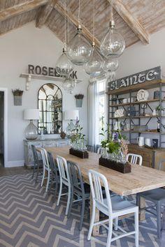 Fabulous California Beach House Coastal Dining Room with a Farmhouse Feel !