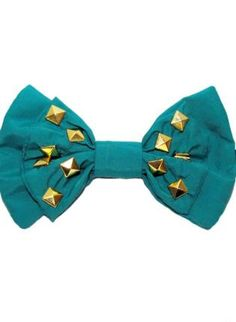 Hardcore Geeks wear studded bow ties- Teal/Turquoise Bow Tie