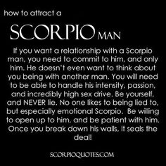 The scorpio man in love