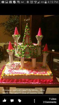 Two tier princess cake