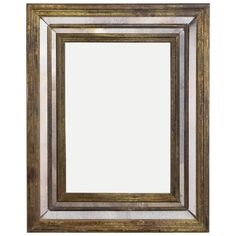 French Vintage Brass Framed Mirror | From a unique collection of antique and modern wall mirrors at https://www.1stdibs.com/furniture/mirrors/wall-mirrors/