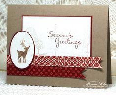 Stamping with Klass: Merry Monday Reindeer Greetings