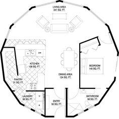 Floorplan ~ 876 sq ft 1 bedroom, 1 bath~ nice floorplan ~ Augusta floorplan
