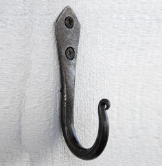hand forged spear j hook by alex pole ironwork   notonthehighstreet.com