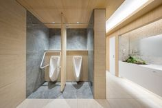 """Overall design of commercial complex """"NEWoMan"""" directly connected to JR Shinjuku station, including creation of design regulation for tenant part Wc Bathroom, Bathroom Toilets, Lobby Interior, Office Interior Design, Toilet Hotel, Wc Public, Toilette Design, Washroom Design, Public Bathrooms"""