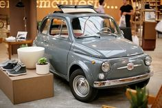 Fiat 500 in grey Fiat 500 Car, Fiat 126, Fiat Cinquecento, Fiat Abarth, Luxury Sports Cars, Ferrari, Retro Cars, Vintage Cars, Bugatti