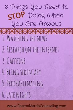 6 Things you Need to Stop Doing When You are Anxious #anxiety #anxietysymptoms