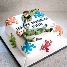 """Cakes for men and boys / For the real """"Action Man"""" - paintballing."""