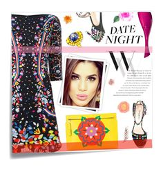 """""""Date Night Style"""" by joliedy ❤ liked on Polyvore featuring Post-It, GALA, Peter Pilotto, Loewe, Balenciaga and Gucci"""