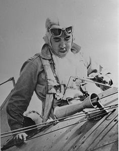 Captain Jesus Villamor, commanding officer of the Pursuit Squadron, Philippine Army Air Corps, is pictured getting out of plane after returning from a flight to Batangas Field. The youth, who leads a daredevil squadron Philippine Army, Batangas, Korean War, Daredevil, Military History, Filipino, World War Ii, Wwii, Philippines