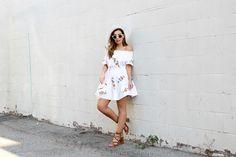 Lovely white Storets dress! stilettobeats.com