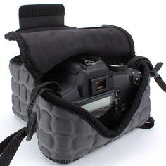 FlexARMOR X Digital SLR Camera Sleeve Case for Nikon , Canon EOS Rebel , Sony Alpha & More DSLR Cameras ( Black )