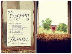 Great simple program Oh Lovely Day®: {Real Wedding} Staci & Ryan: Rustic DIY Barn Wedding in South Dakota