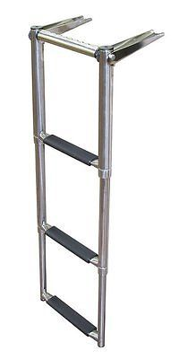 Other Fishing 384: Jif Marine Eqb3 3 Step Over Platform Telescoping Boat Ladder With Hand Grip -> BUY IT NOW ONLY: $89.99 on eBay!