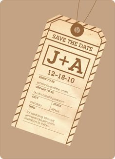 Destination Wedding Save the Date Cards by Paper Culture
