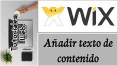 Wix 2017 - Añadir texto de contenido (español)